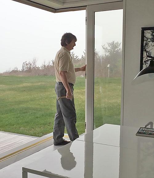 Open Corner, Pocketing Sliding Door in Action