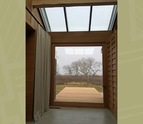Glass Pivot Door - Interior