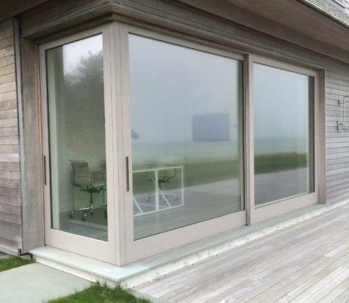 Corner Sliding Door with Pocketing Screen Door