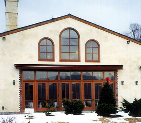 Arched Windows at Harvest on Hudson Restaurant
