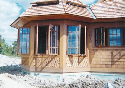 Outswing Casement Cherry/Mahogany Windows