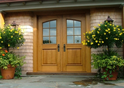 Double Entrance Door of Rift Sawn White Oak