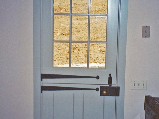 Dutch Door with Custom Hardware