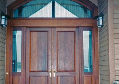 Entrance Door with Sidelites and Arched Transom