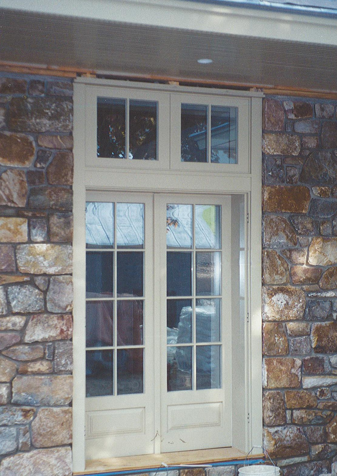 Inswing French Door with Transoms