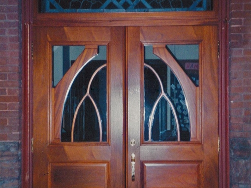 Mahogany Church Entrance Door