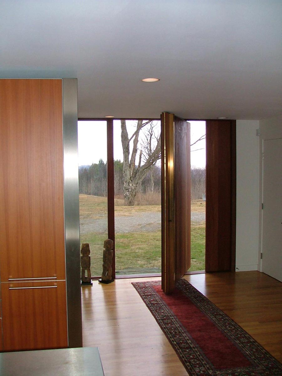 Pivot Plank Entrance Door