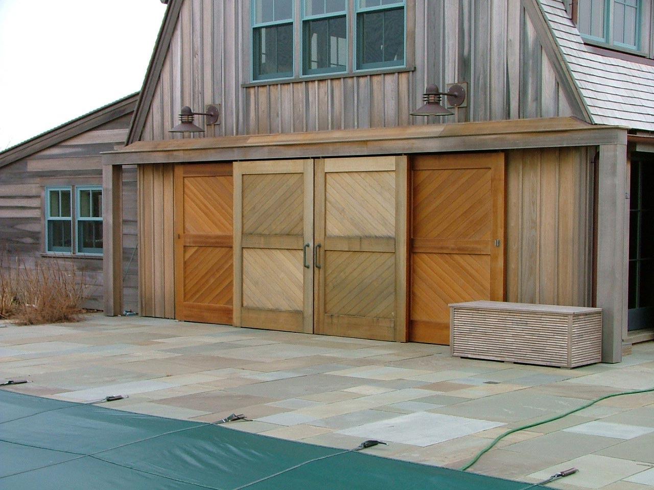 Suspended Storm Door with Lift & Slide Door